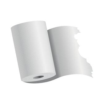 Realistische sjabloon voor toiletpapier of keukenpapier