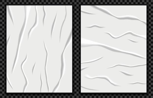 Realistische slecht gelijmde papier vectorillustratie