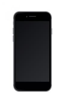 Realistische smartphone die op witte achtergrond wordt geïsoleerd.