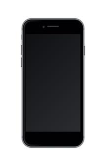 Realistische smartphone geïsoleerd op een witte achtergrond.