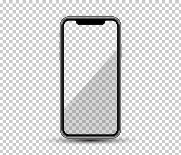 Realistische smartphone, lege weergave