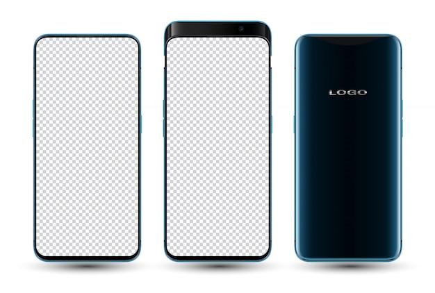Realistische smartphone mockup transparant scherm