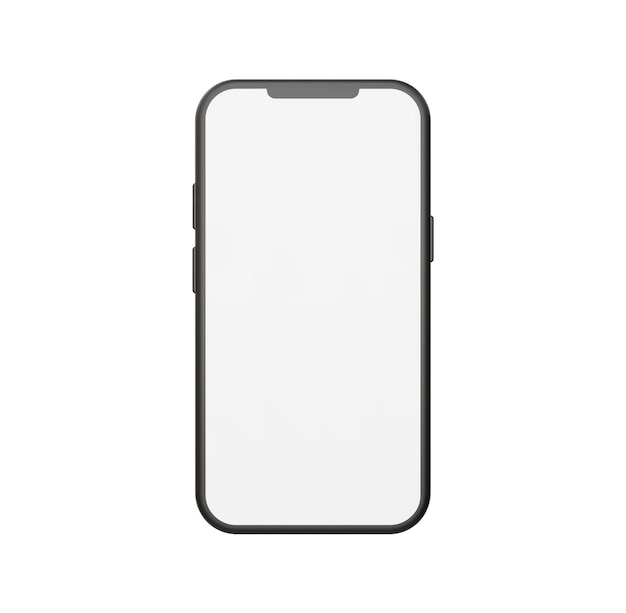 Realistische smartphone mockup vectorillustratie met vooraanzicht.