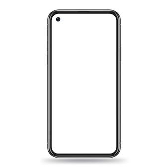 Realistische smartphone-sjabloon
