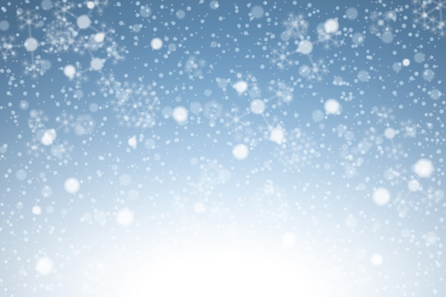Realistische sneeuwval achtergrond