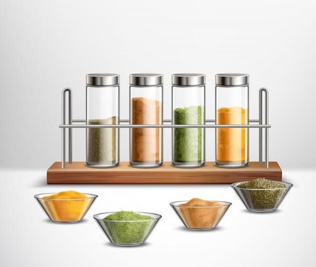 Realistische specerijen samenstelling