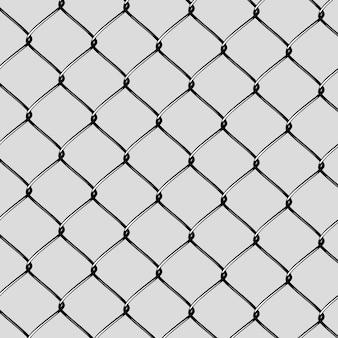 Realistische stalen netting cut
