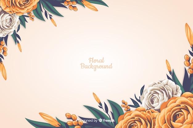 Realistische stijl bloemen decoratieve achtergrond