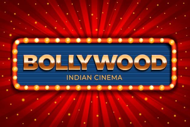 Realistische stijl bollywood bioscoop teken