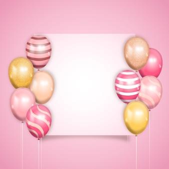 Realistische stijl met ballonnen