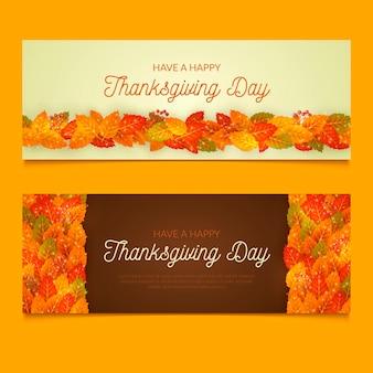 Realistische stijl thanksgiving banner