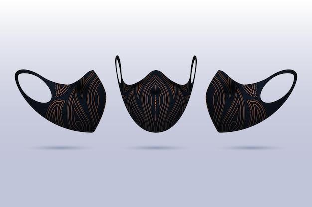 Realistische stof gezichtsmasker concept