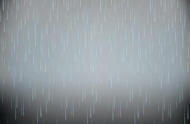 Realistische stormheavy rain vector