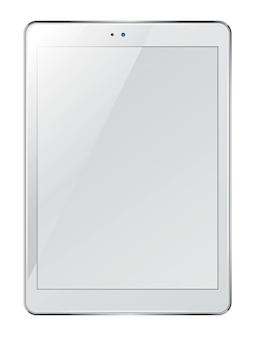 Realistische tablet met leeg scherm geïsoleerd op wit