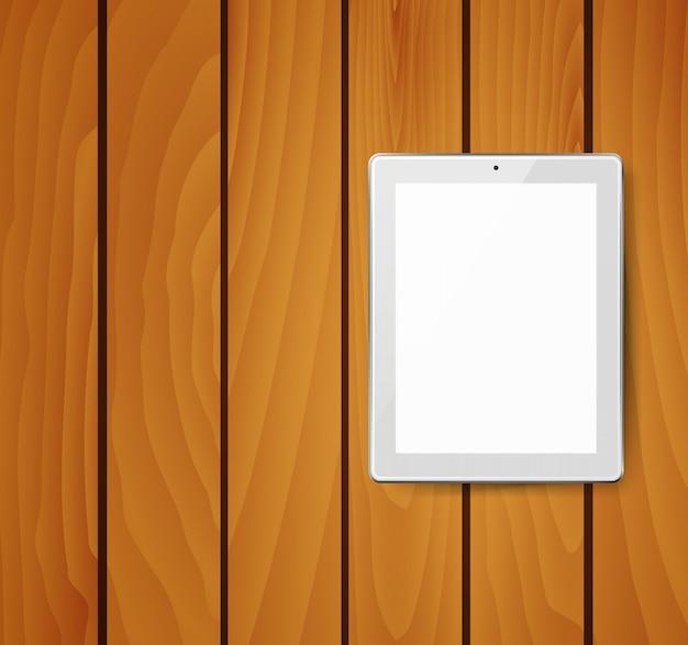 Realistische tablet pc-computer met een leeg scherm.
