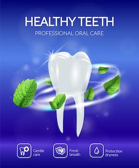 Realistische tandheelkundige poster