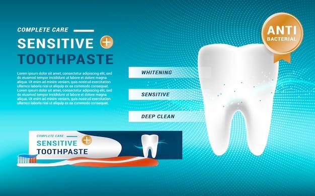 Realistische tandheelkundige zorgpromo