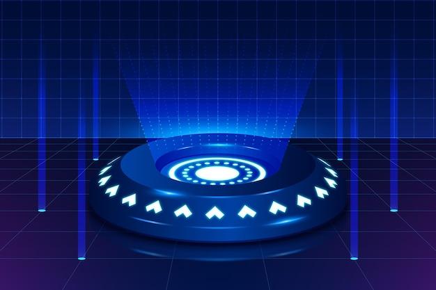Realistische technologie cyber maandag achtergrond