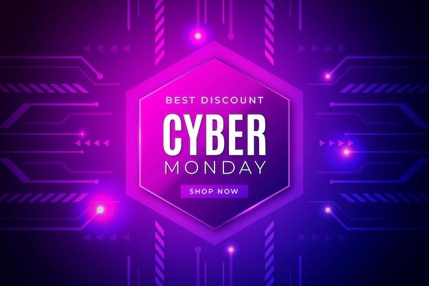 Realistische technologie cyber maandag concept