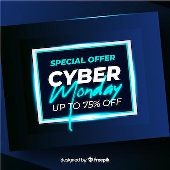 Realistische technologie cyber maandag