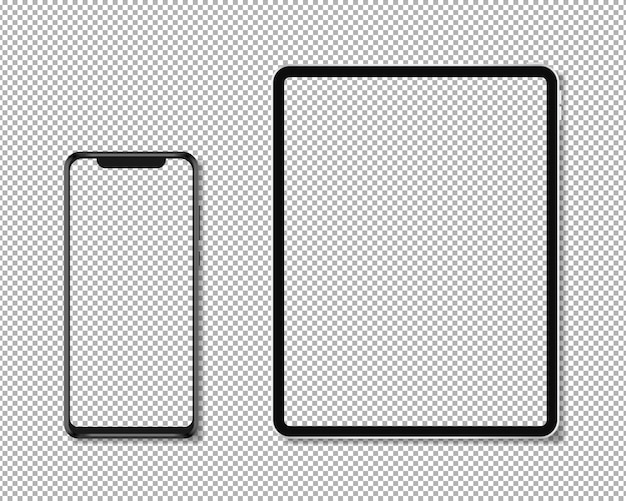 Realistische telefoon en tablet