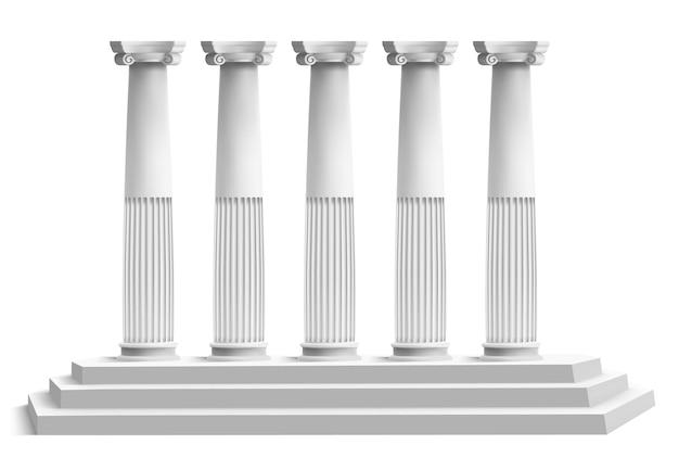 Realistische tempelzuilen