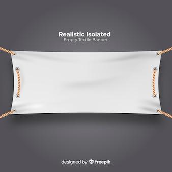 Realistische textielbanner