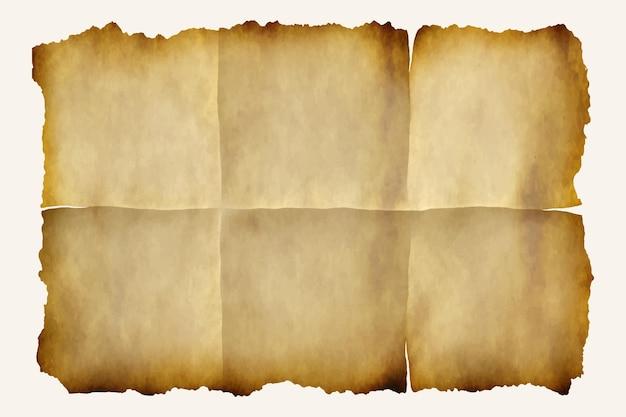 Realistische textuur van verbrand papier
