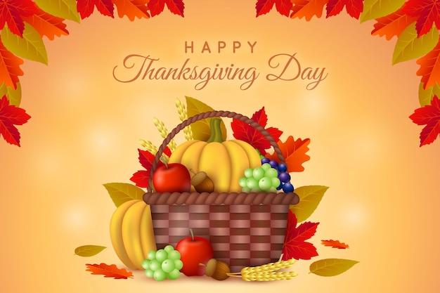 Realistische thanksgiving achtergrond