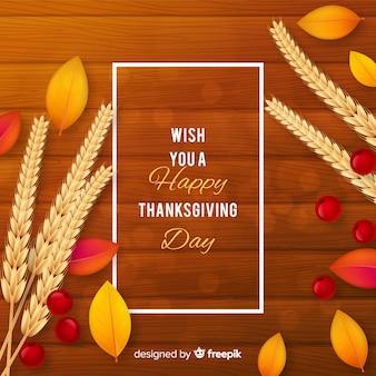 Realistische thanksgiving day achtergrond