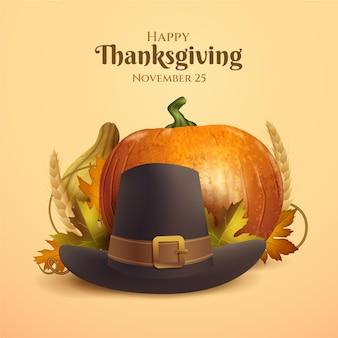 Realistische thanksgiving-illustratie