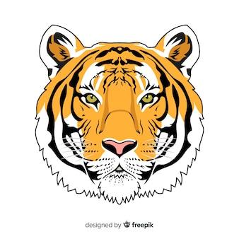 Realistische tijgerachtergrond