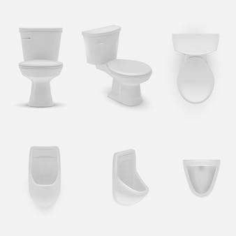 Realistische toiletillustratie