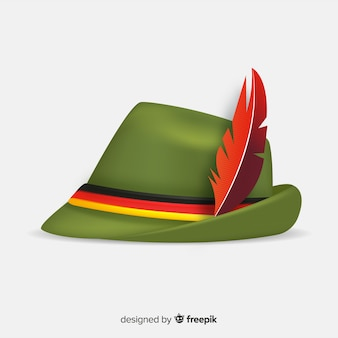 Realistische traditionele oktoberfest-hoed