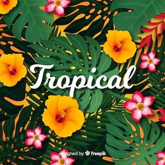Realistische tropische achtergrond