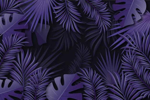 Realistische tropische bladerenachtergrond