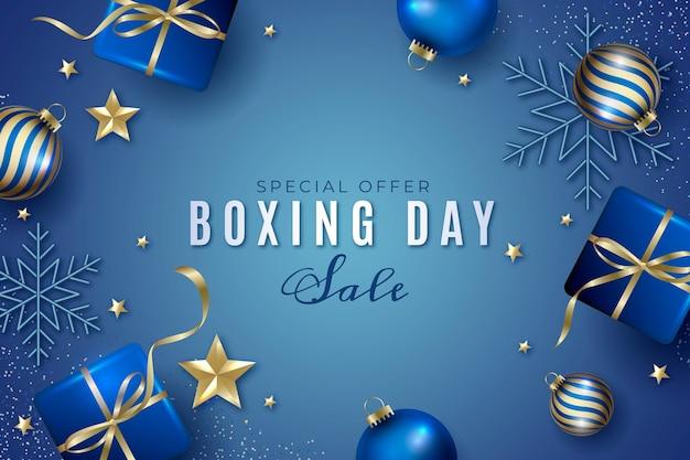 Realistische tweede kerstdag verkoop achtergrond