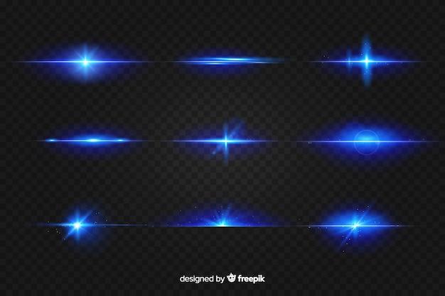 Realistische uitbarsting van lichtcollectie