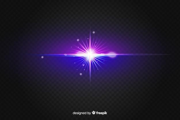 Realistische uitbarsting van lichteffect op twee kleuren