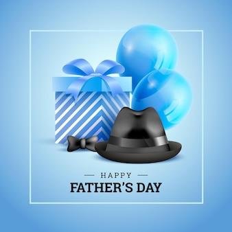 Realistische vaderdag illustratie