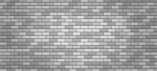 Realistische vector bakstenen muur wit getextureerd metselwerk naadloze achtergrond set