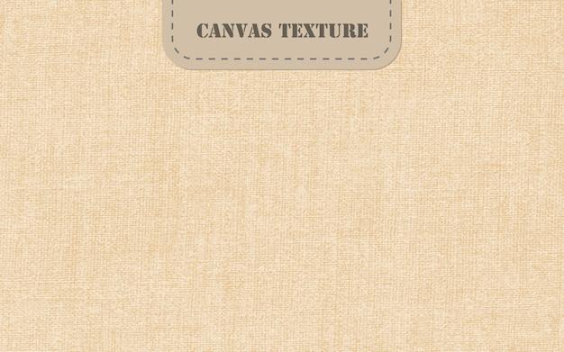 Realistische vector canvastextuur natuurlijke oude linnen achtergrond natuurlijke vlasvezel stof behang