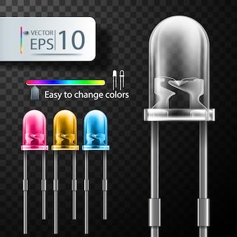 Realistische vector led, light emitting diode