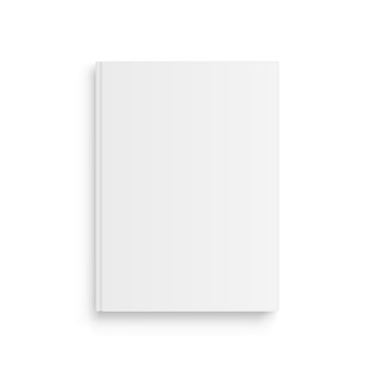 Realistische vector mockup boek, tijdschrift of laptop. vooraanzicht.