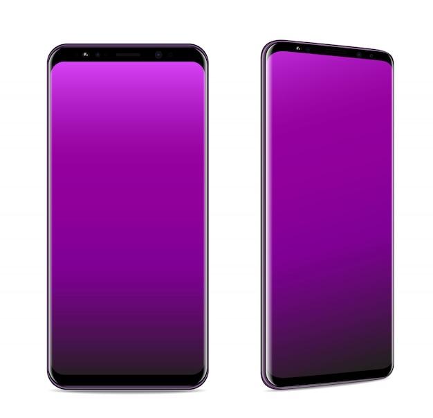 Realistische vector van smartphone isoleerde witte illustratie.