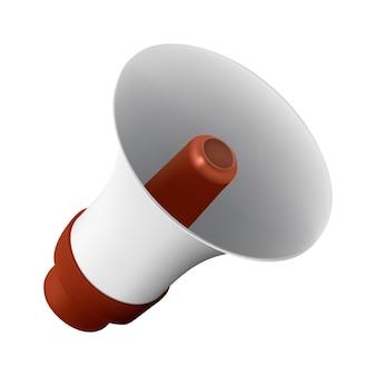 Realistische vectorillustratie van luidspreker of megafoon geïsoleerd op een witte achtergrond. perfect om te gebruiken voor het ontwerpen van advertenties voor uw website of gedrukte publicaties