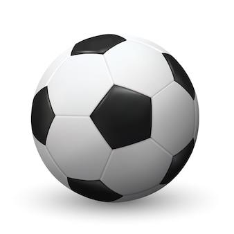 Realistische vectorvoetbal of voetbalbal sportuitrusting voor de zomer buiten spelen