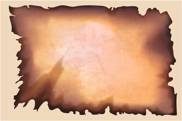 Realistische verbrande papiertextuur met lege ruimte
