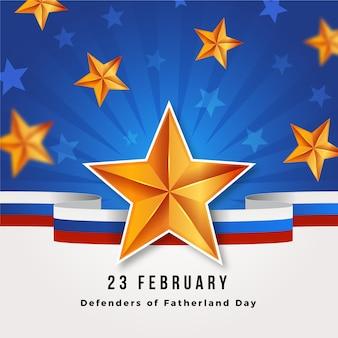 Realistische verdediger van het vaderlanddag 23 februari
