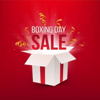 Realistische verkoop op tweede kerstdag